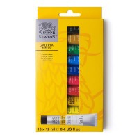 Galeria Acrylic Paint 10 x 12ml Tube Set